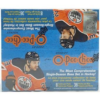 2020/21 Upper Deck O-Pee-Chee Hockey 36-Pack Box
