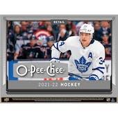 2021/22 Upper Deck O-Pee-Chee Hockey 8-Pack Blaster 20-Box Case (Presell)