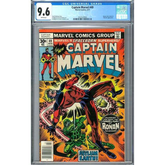 Captain Marvel #49 CGC 9.6 (W) *2022522002*
