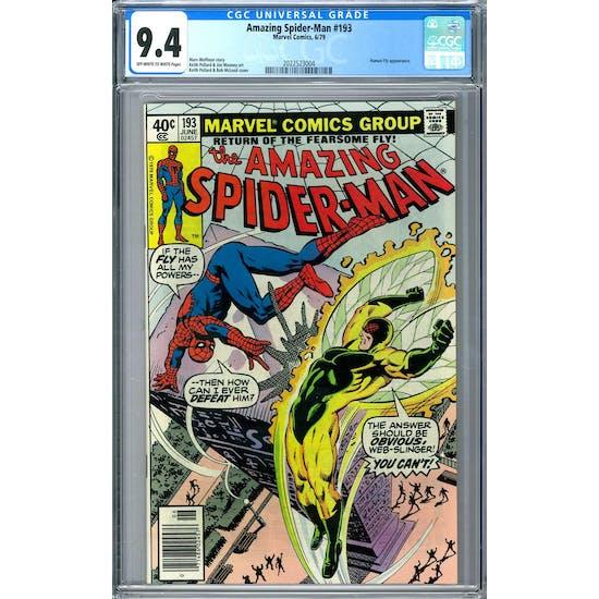 Amazing Spider-Man #193 CGC 9.4 (OW-W) *2022523004*