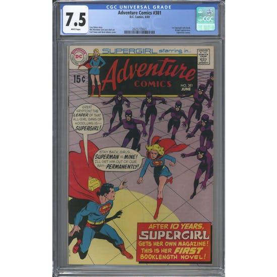 Adventure Comics #381 CGC 7.5 (W) *2025773021*
