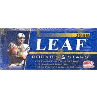 1998 Leaf Rookies & Stars Football Hobby Box