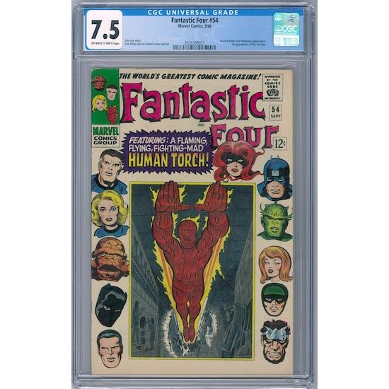 Fantastic Four #54 CGC 7.5 (OW-W) *2026369021*
