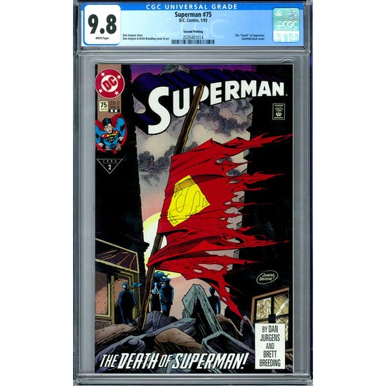 Superman #75 CGC 9.8 (W) 2nd Printing *2026401014*