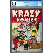Krazy Komics #7 CGC 5.5 (C-OW) *2027239008*