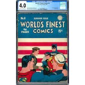 World's Finest Comics #6 CGC 4.0 (C-OW) *2027296002*