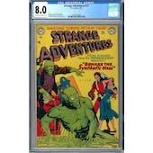 Strange Adventures #17 CGC 8.0 (OW-W) *2027297006*
