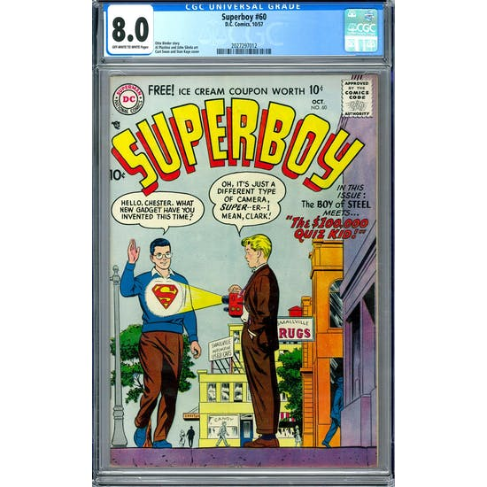 Superboy #60 CGC 8.0 (OW-W) *2027297012*