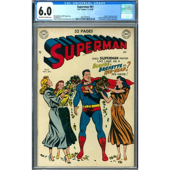 Superman #61 CGC 6.0 (OW-W) *2027297016*