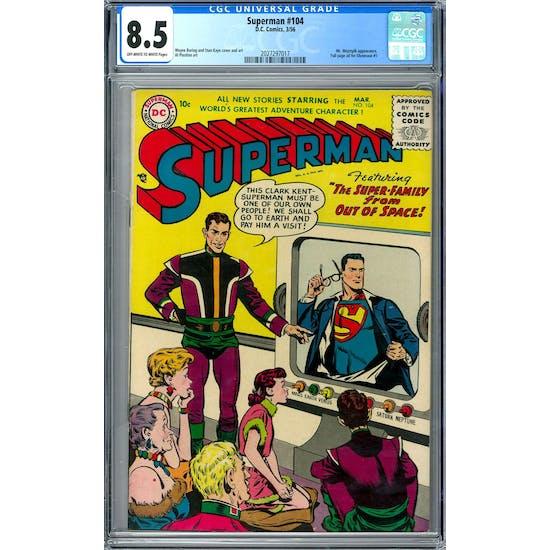 Superman #104 CGC 8.5 (OW-W) *2027297017*