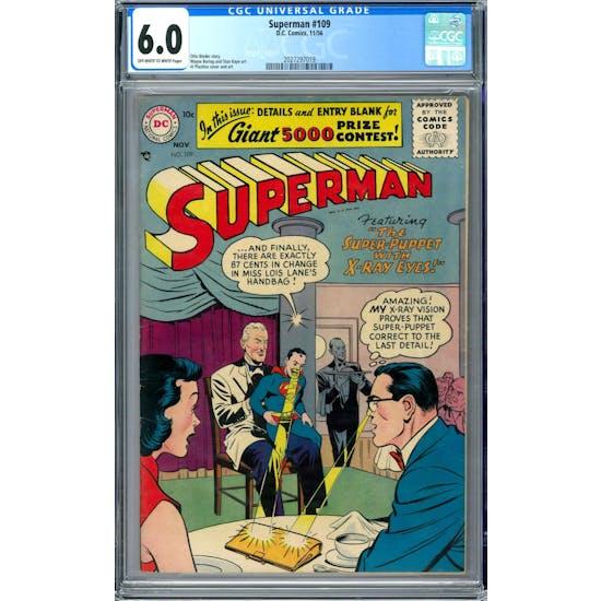 Superman #109 CGC 6.0 (OW-W) *2027297019*