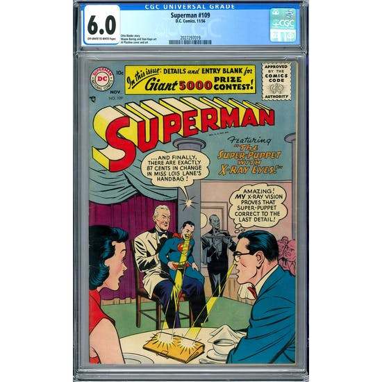 Superman #109 CGC 6.0 (OW-W) *2027297019*