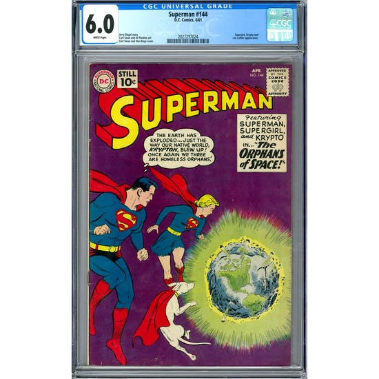 Superman #144 CGC 6.0 (W) *2027297024*