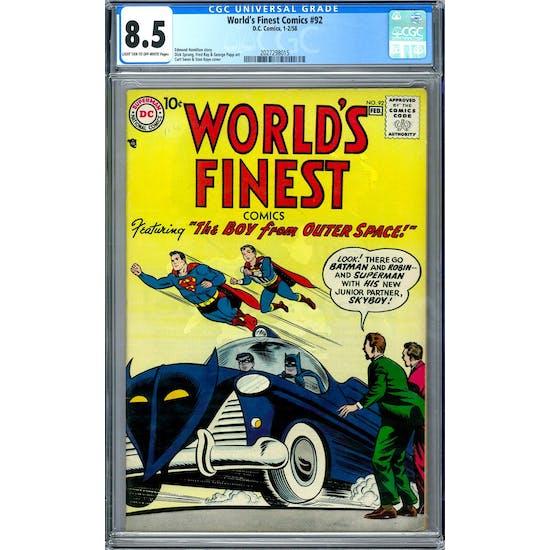 World's Finest Comics #92 CGC 8.5 (LT-OW) *2027298015*