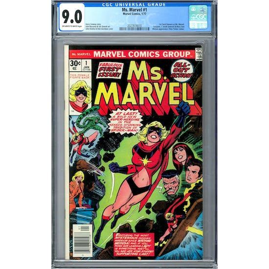 Ms. Marvel #1 CGC 9.0 (OW-W) *2027874010*