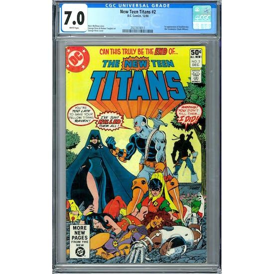 New Teen Titans #2 CGC 7.0 (W) *2027874017*
