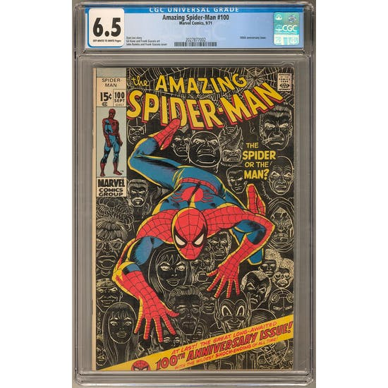 Amazing Spider-Man #100 CGC 6.5 (OW-W) *2027877002* Amazing2020Series1 - (Hit Parade Inventory)