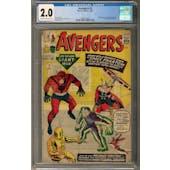 Avengers #2 CGC 2.0 (C-OW) *2027877007*
