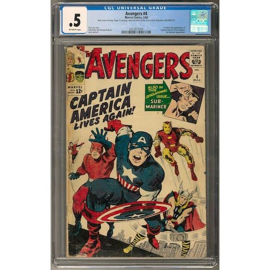 Avengers #4 CGC .5 (OW) *2027877009*