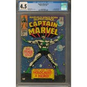 Captain Marvel #1 CGC 4.5 (C-OW) *2027877020*