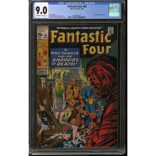 Fantastic Four #96 CGC 9.0 (OW-W) *2029440013*