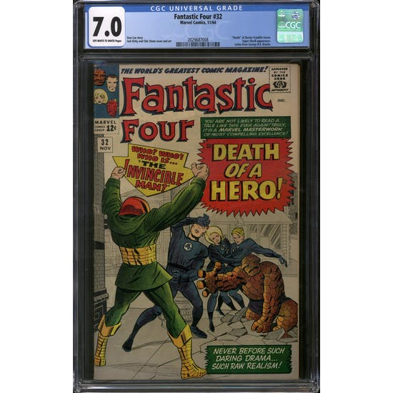 Fantastic Four #32 CGC 7.0 (OW-W) *2029687008*