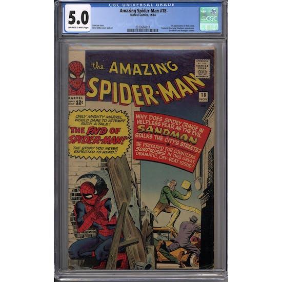 Amazing Spider-Man #18 CGC 5.0 (OW-W) *2033666011*