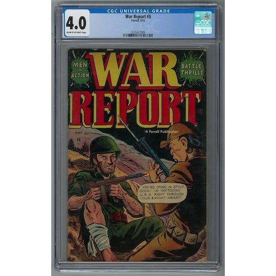 War Report #5 CGC 4.0 (C-OW) *2035427009*