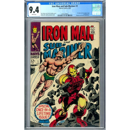 Iron Man and Sub-Mariner #1 CGC 9.4 (W) *2036209002*