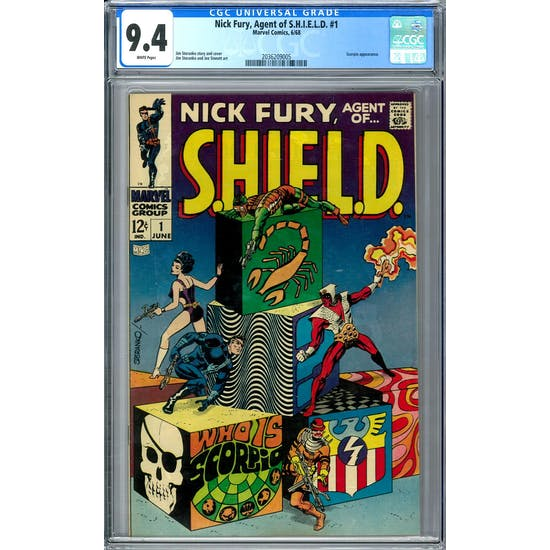 Nick Fury, Agent of S.H.I.E.L.D. #1 CGC 9.4 (W) *2036209005*