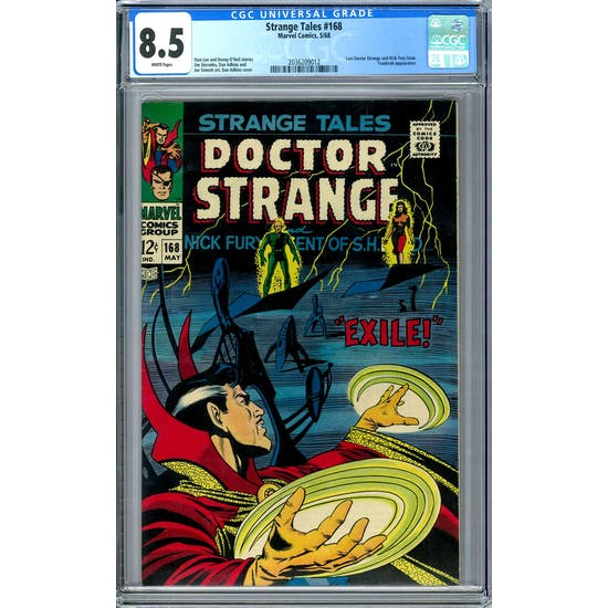 Strange Tales #168 CGC 8.5 (W) *2036209012*
