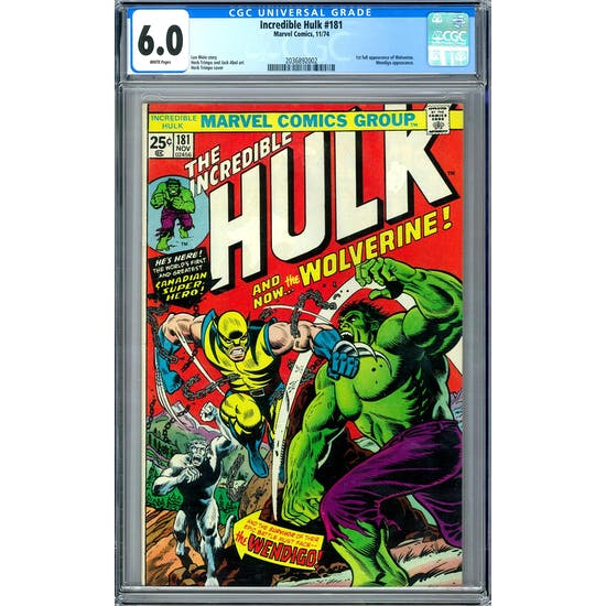 Incredible Hulk #181 CGC 6.0 (W) *2036892002*