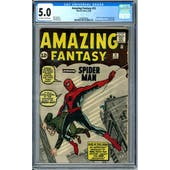 Amazing Fantasy #15 CGC 5.0 (OW-W) *2036895004*