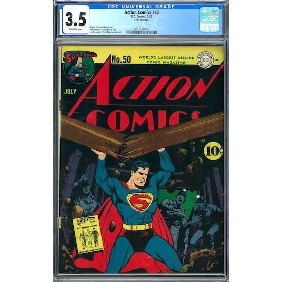 Action Comics #50 CGC 3.5 (OW) *2037690001*