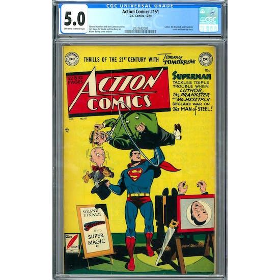 Action Comics #151 CGC 5.0 (OW-W) *2037692002*