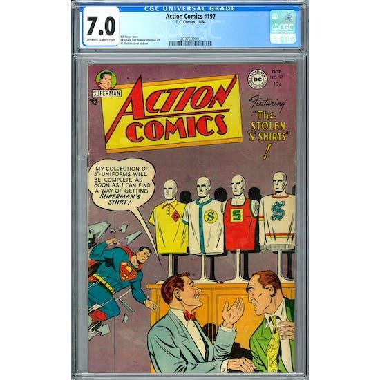 Action Comics #197 CGC 7.0 (OW-W) *2037692003*