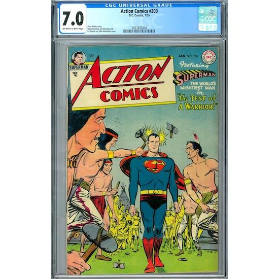 Action Comics #200 CGC 7.0 (OW-W) *2037692004*