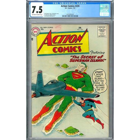 Action Comics #224 CGC 7.5 (OW-W) *2037692005*