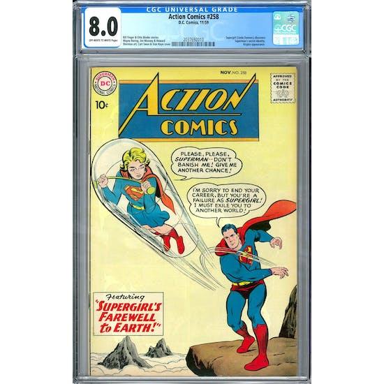 Action Comics #258 CGC 8.0 (OW-W) *2037692010*