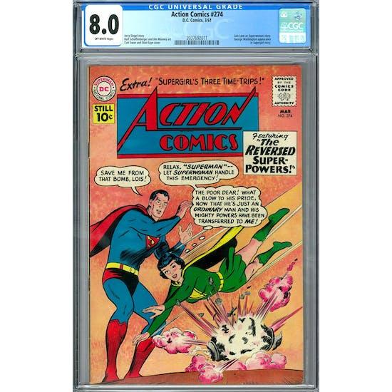 Action Comics #274 CGC 8.0 (OW) *2037692011*