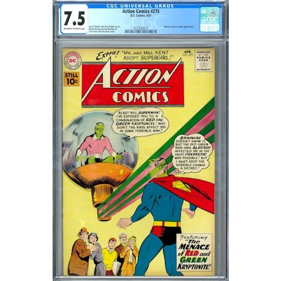 Action Comics #275 CGC 7.5 (OW-W) *2037692012*