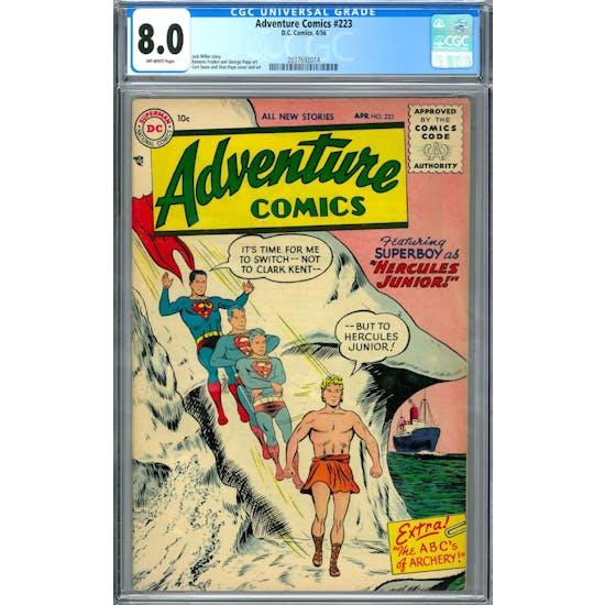 Adventure Comics #223 CGC 8.0 (OW) *2037692014*