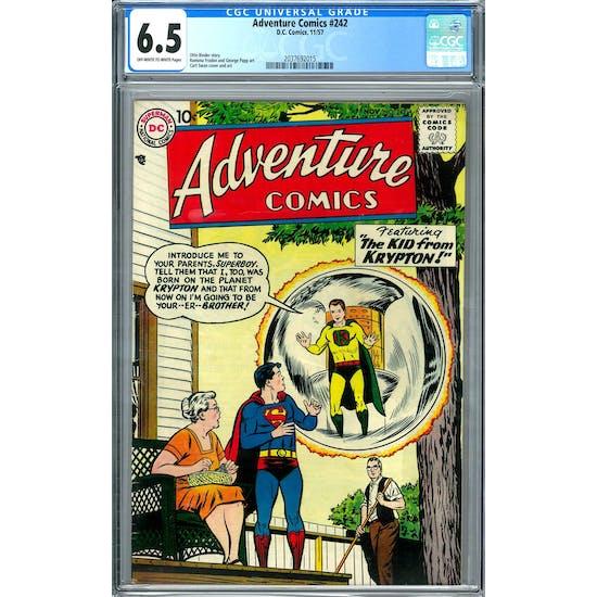 Adventure Comics #242 CGC 6.5 (OW-W) *2037692015*