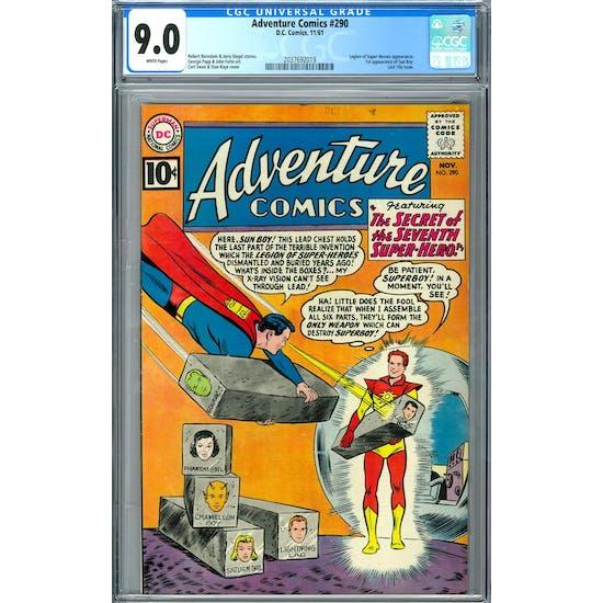 Adventure Comics #290 CGC 9.0 (W) *2037692019*