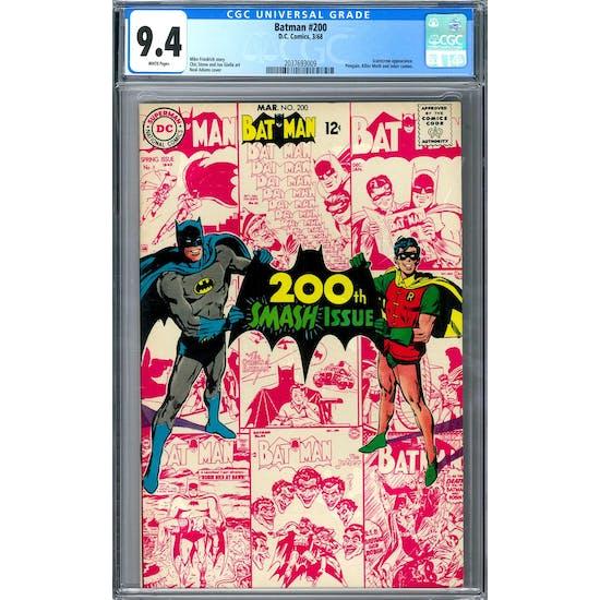 Batman #200 CGC 9.4 (W) *2037693009*