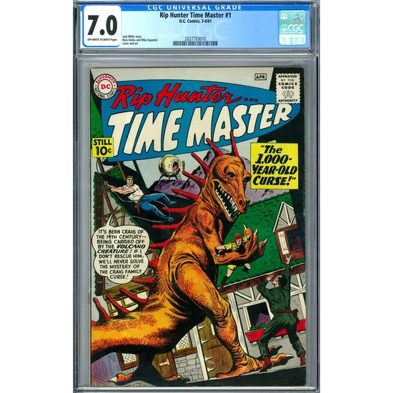 Rip Hunter Time Master #1 CGC 7.0 (OW-W) *2037703010*