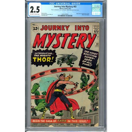 Journey Into Mystery #83 CGC 2.5 (OW-W) *2041432001*