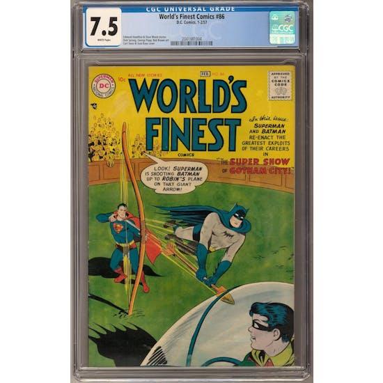 World's Finest Comics #86 CGC 7.5 (W) *2041981004*