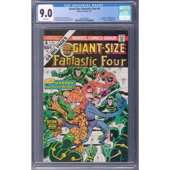 Giant-Size Fantastic Four #4 CGC 9.0 (W) *2041982001*