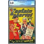 Captain Marvel Adventures #16 CGC 3.0 (OW-W) *2042674010*
